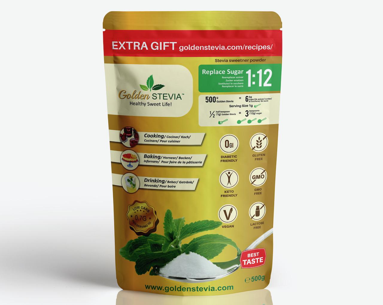 Golden Stevia suhkruasendaja Parima maitse, kvaliteedi ja hinnaga