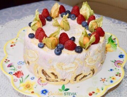 Suhkruvaba Sharlotte tort Golden Steviaga