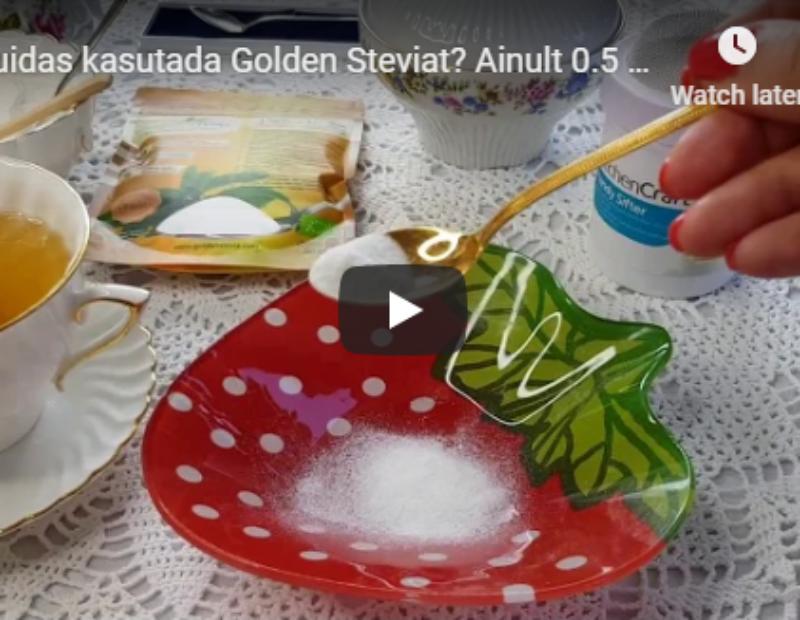 Kuidas kasutada Golden Steviat? Ainult 0.5 grammi paned seda tee sisse!