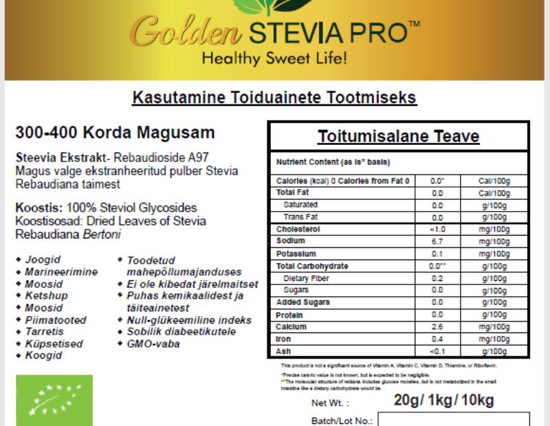 Kus saab kasutada Golden Stevia Pro magusainet?