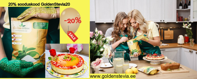 Golden Stevia suhkru asendajaa