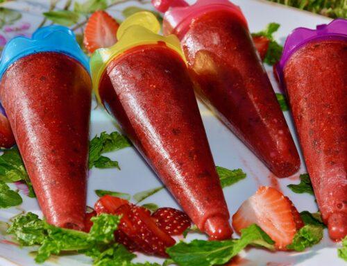 Suhkruvaba Maasika Piparmündi jäätis Golden Steviaga