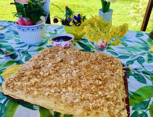 Vähendatud kaloritega maitsev Napoleoni kook Golden Steviaga