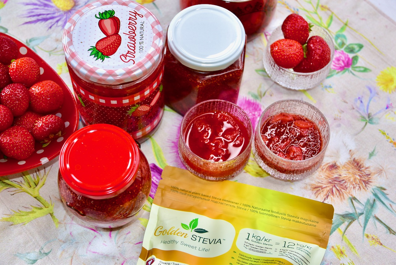Maasikamoos suhkruvaba golden stevia suhkruasendajaga