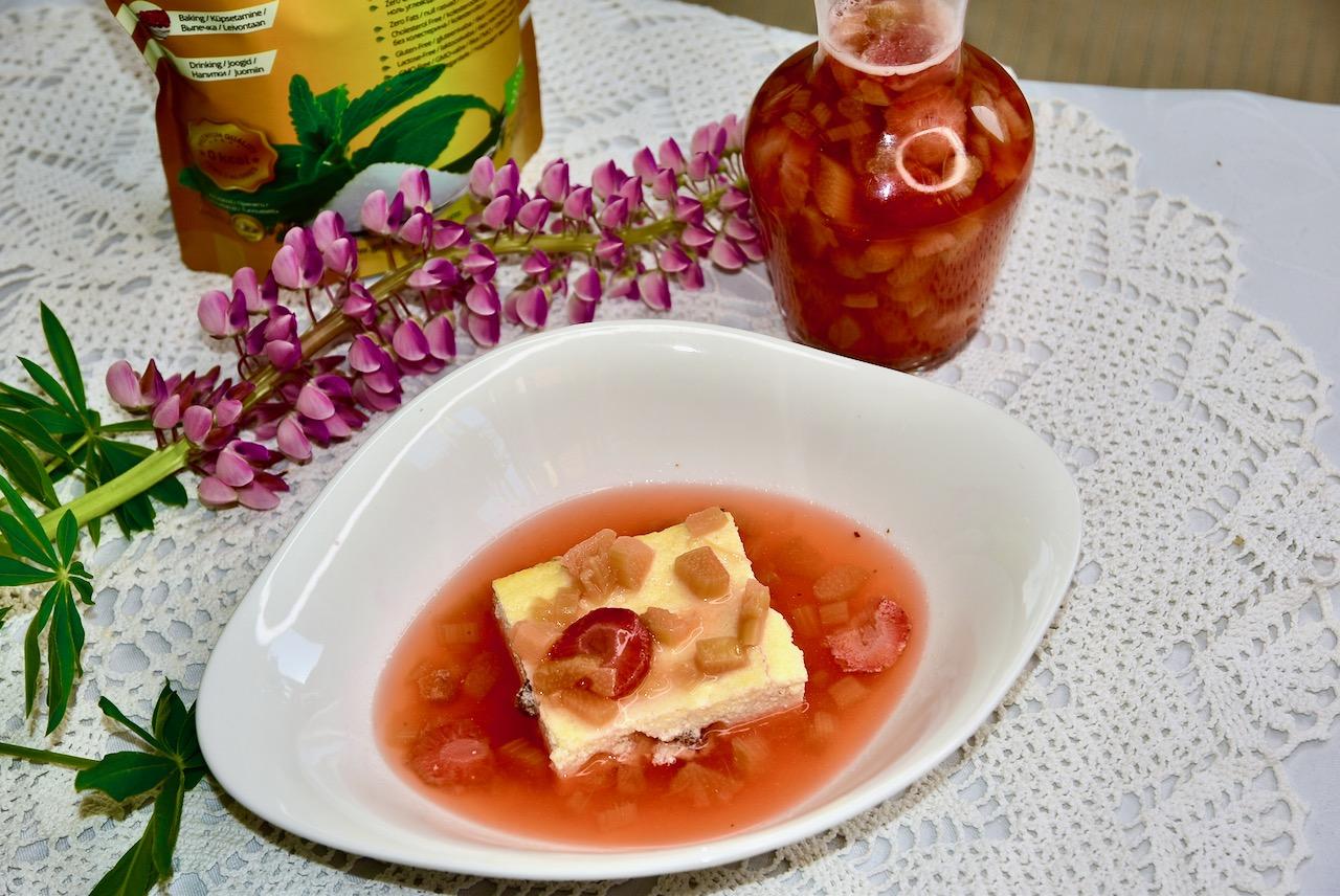 Suhkruvaba Kohupiimavorm rosinatega ja kissell
