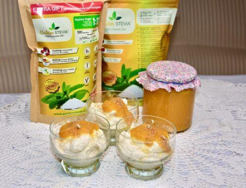Keto suhkruvaba vahukoore-toorjuustu kamavaht Golden Stevia magusainega