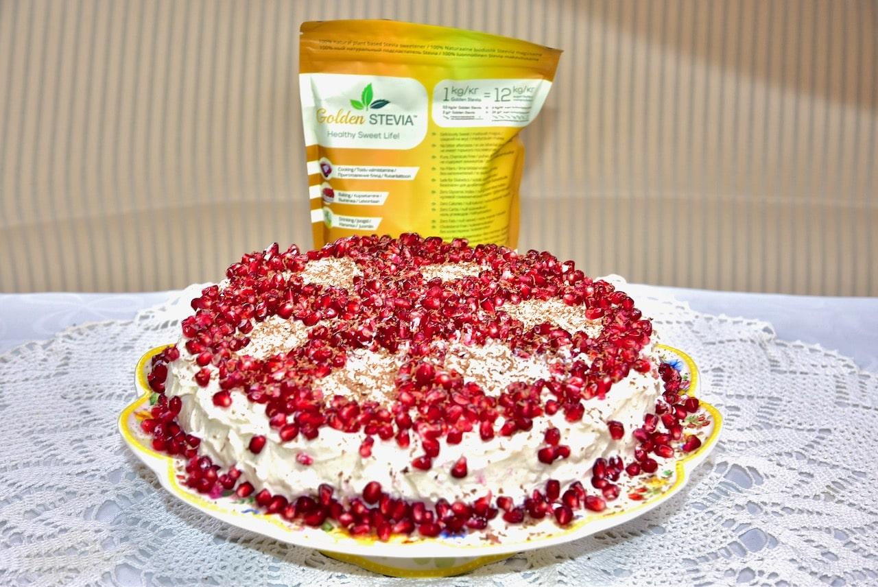 Kõrvitsa biskviidi toorjuustu tort suhkruvaba