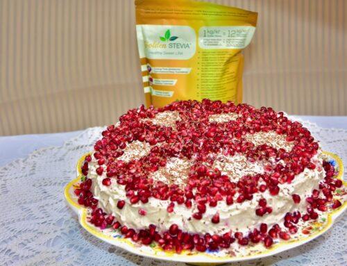 Kõrvitsa biskviidi toorjuustu tort Golden Stevia magusainega
