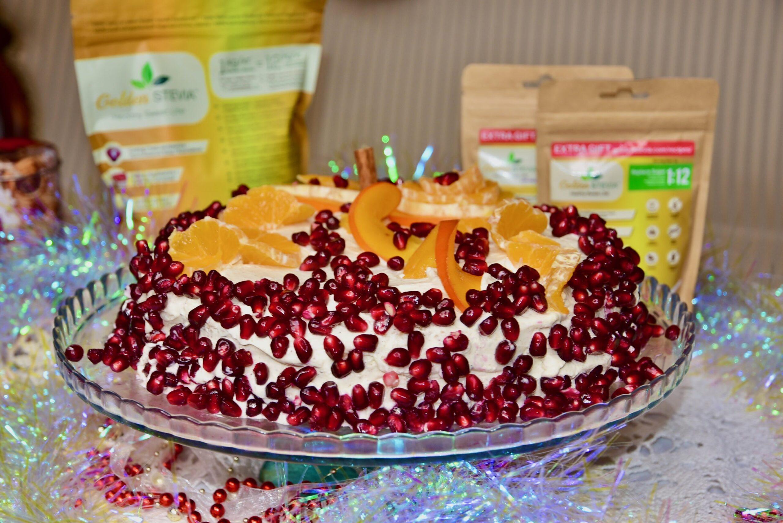 Keto toorjuustu vahukoore tort jõuludeks