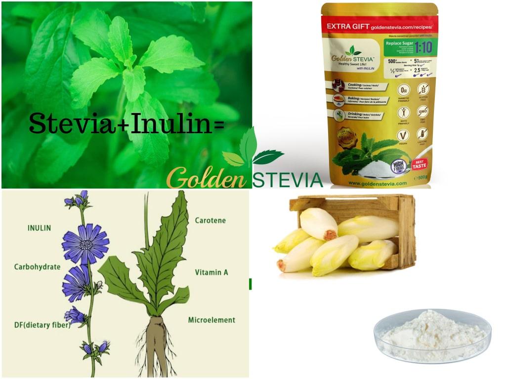 Golden Stevia suhrkuasendja Stevia sweetner inuliiniga