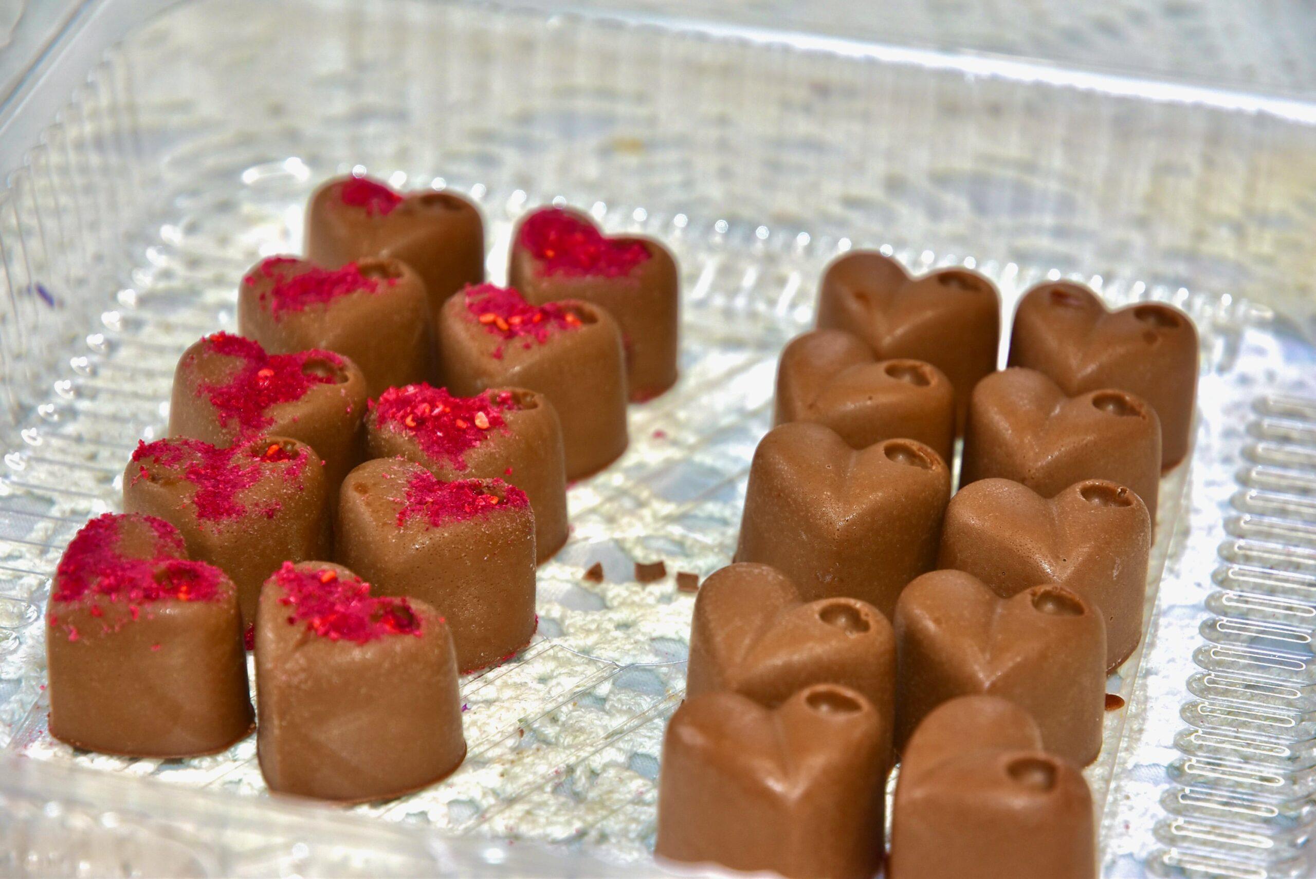 Golden Stevia kookose shokolaadi sõbrapäevakommid suhkruvabad