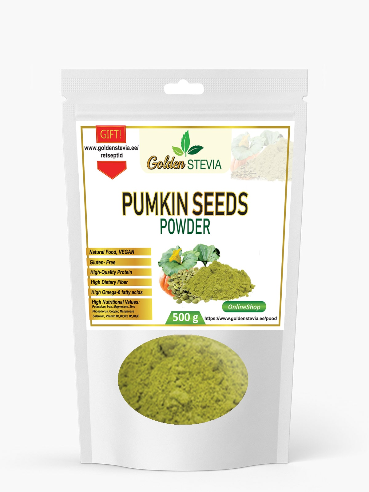 Kõrvitsa seemnetest tehtud pulber, kõrvitsaseemne jahu