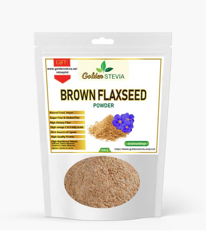 brown flaxseed powder pruunid linaseemned