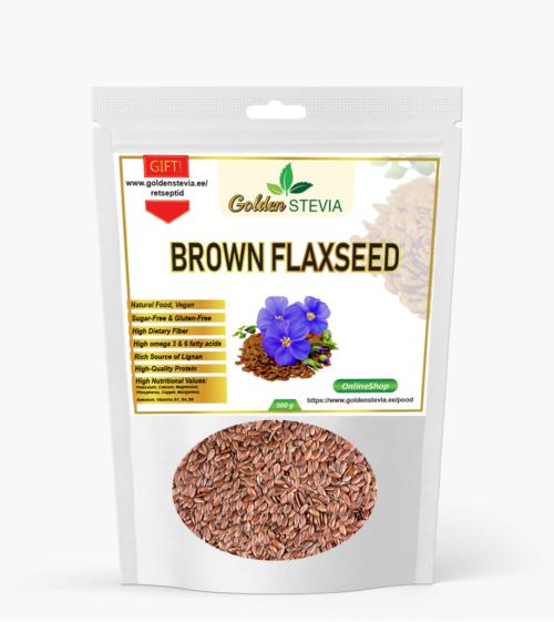 brown flaxseeds pruunid linaseemned süsivesikuvaene lchf keto