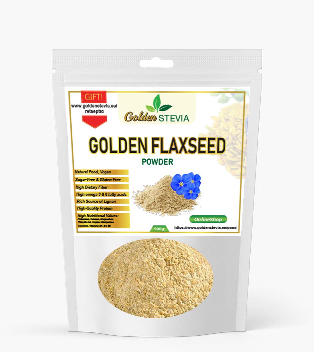 Kuldse linaseemne jahu golden flaxseed keto lchf