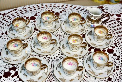 Golden Stevia Portselan nõud, Vana serviis Osta Müü oksjon kohviserviis Bavaria (2)