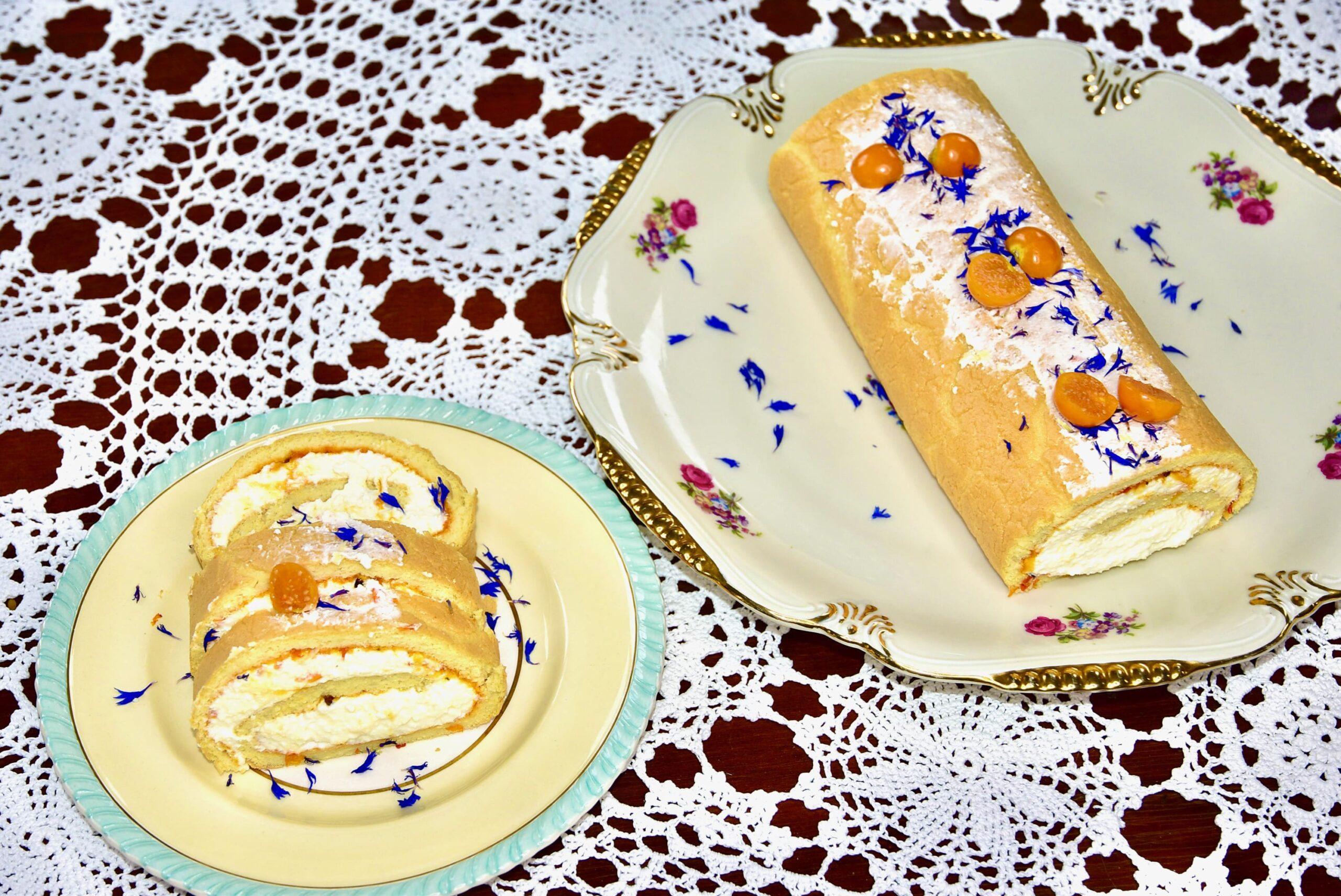 Suhkruvaba mandlijahu gluteenivaba biskviitist keto low carb kohupiima rullbiskviit