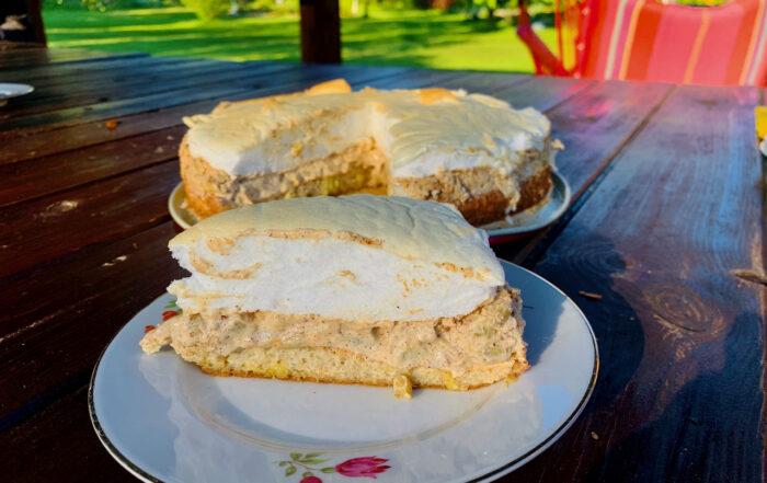 Gluteenivaba Rabarberikook Mandlijahu biskviidi, keto, suhkruvaba