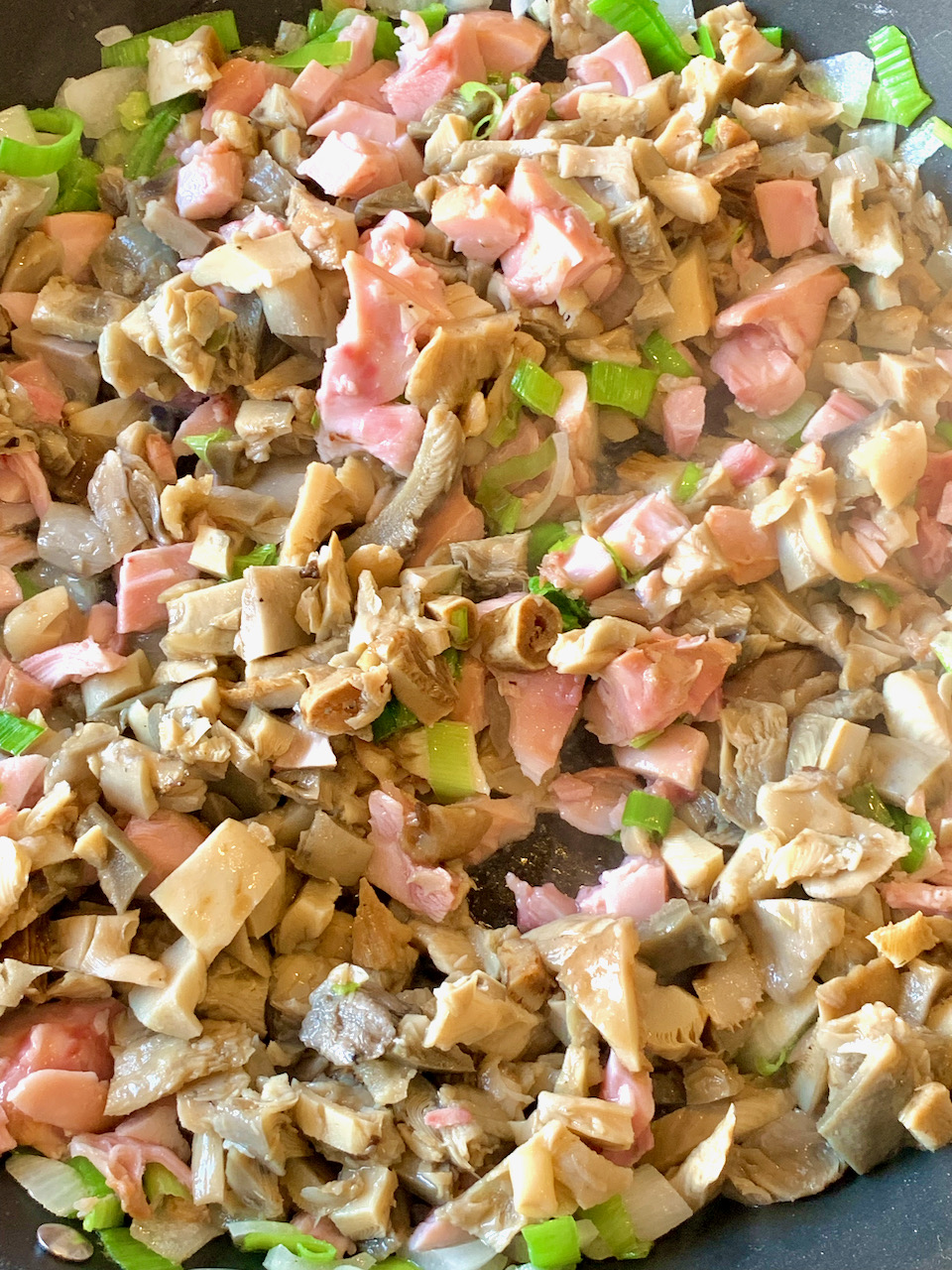 Gluteenivaba Madalate Süsivesikutega Keto Seene Suitsukana Porru Quiche-