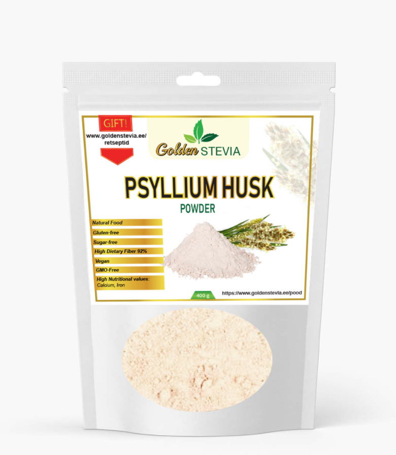 Psüllum Husk Powder ehk Psyllium Husk pulbriline teelehest tehtud kiudaine
