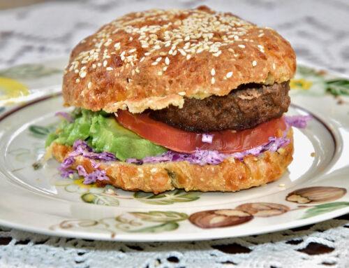Keto Burger Gluteenivaba Low Carb sai – Fathead Burger Buns