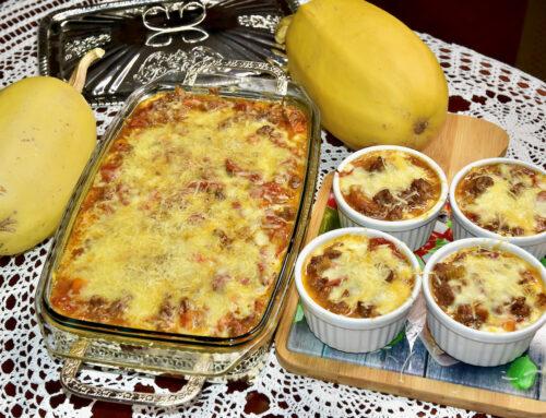 Spagetikõrvitsa Lasagne Veisehakkliha Trühvli toorjuustuga või musta torbikseenega